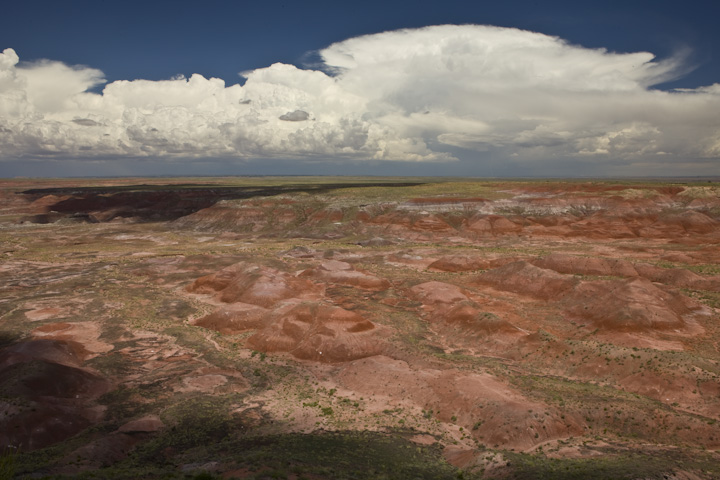 Thunderstorm across the Painted Desert.  Image captured as artist-in-residence at Petrified Forest National Park