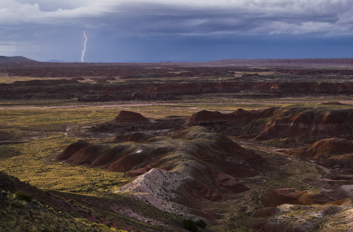 Lightning across the Painted Desert.   © Joe Decker, created during an artist residency at Petrified Forest National Park