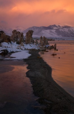 Stormy Sunrise at South Tufa