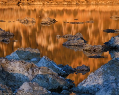 Sunrise Reflections, Old Marina, Mono Lake