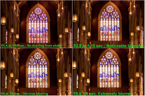 "As these examples -- made at apertures from very wide to moderately wide -- confirm, the shutter speed is substantially faster at f/1.4 than at the more common apertures at any ISO, minimizing the risk of blurring caused by camera shake. (Sigma 30mm f/1.4; ISO 100.) (c) 2009 Peter K. Burian In addition to that aspect there are three other benefits that are available with many ""fast"" lenses."