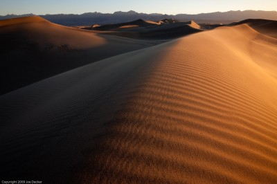 Blowing Sands at Sunrise, Mesquite Flat