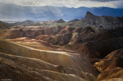 Shafts, Zabriskie Point, Death Valley National Park, California