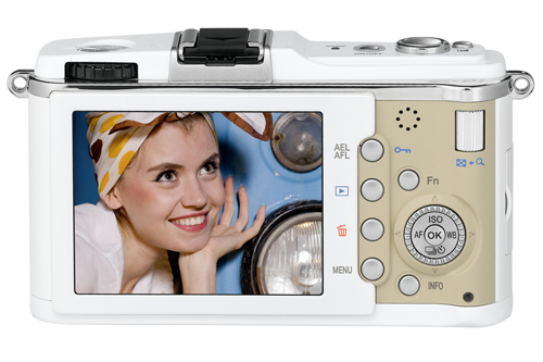 While an increasing number of DSLRs can also capture videos, the E-P1's built-in mic can capture stereo sound and this camera provides some additional benefits, as part of the unique Multi-Mix feature set. (This Olympus product photo is a simulation and is not intended to represent display quality.)