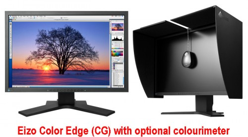 The Rolls Royce of monitors for serious photographers and graphic arts specialists, an Eizo Color Edge (CG) model always gets rave reviews. If you want a more affordable but still superb monitor, check out the 24-inch Samsung SyncMaster 245T or the 22-inch MultiSync P221W from NEC.