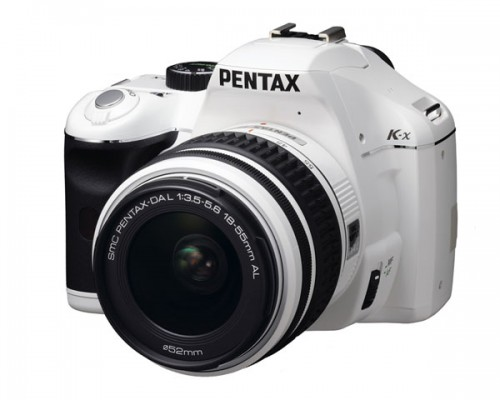 Pentax K-x with Kit Lens. A DSLR with style and pizzazz. Get a hold of that matching lens. Photo courtesy of Pentax.