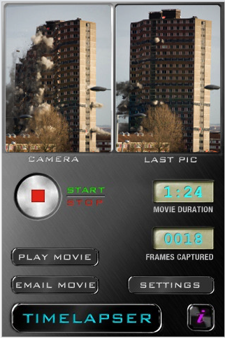 TimeLapser app for iPhone