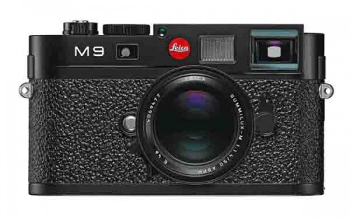 Leica M9 (front). A ruggedly built, Euro-styled digital rangefinder in which quality, performance, and price go hand in hand. Photo courtesy Leica.