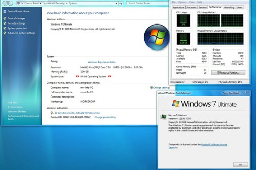 All versions of Windows 7, except Basic, include both a 32-bit edition and a 64-bit edition. When buying a new PC with more than 8 GB of random access memory, remind the vendor to pre-install the 64-bit edition.