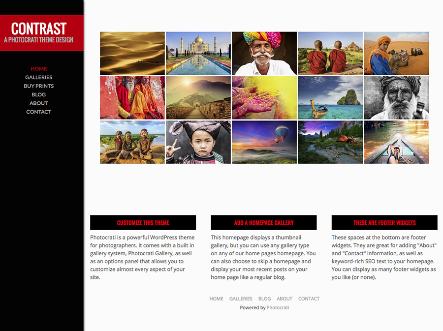 Contrast Red WordPress Theme