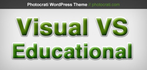 Visual VS Educational Content