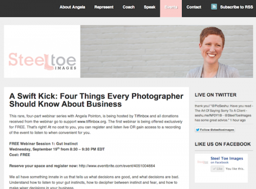 A Serious Photography Business With A Swift Kick