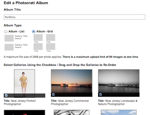 wordpress-portfolio-album