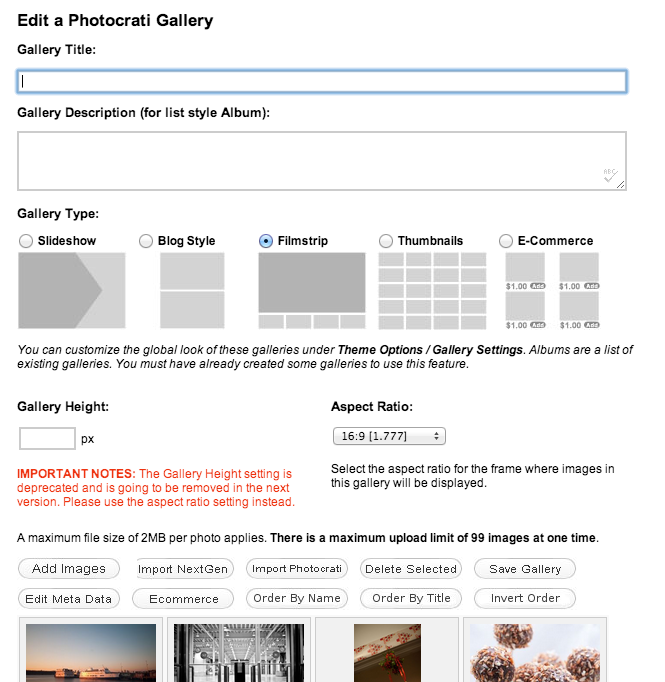 wordpress gallery management