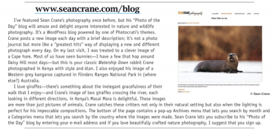 Photocrati User, Sean Crane, Featured In Shutterbug Magazine AGAIN