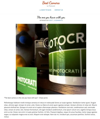 Photocrati Preset for Pressgram Users: Best Camera
