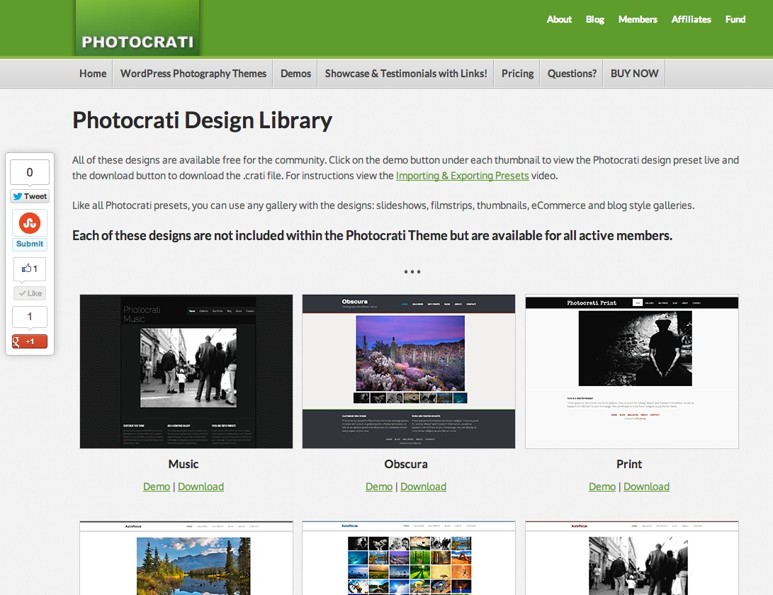 photocrati design library