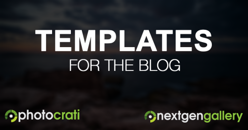New Photocrati Theme Blog Templates