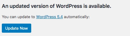 Upgrading is pretty easy. WordPress will notify you when a new version is available: