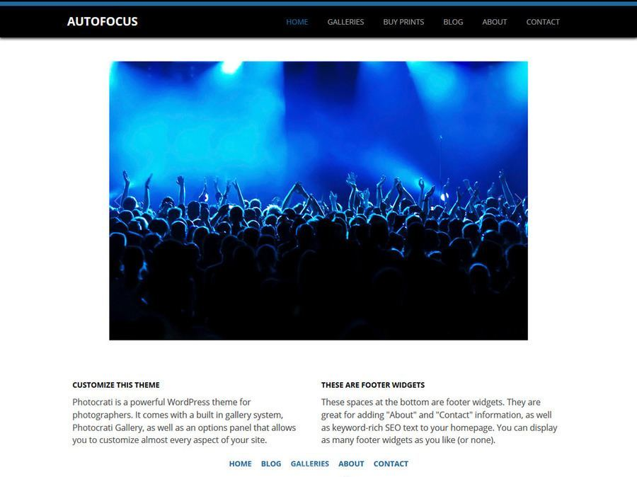 Autofocus Black Blue WordPress Theme