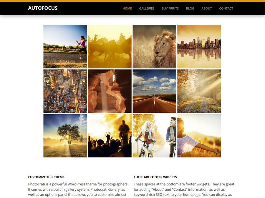 Autofoucs Black Orange WordPress Theme