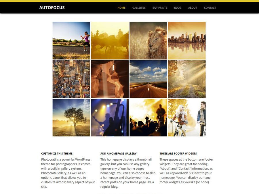 Autofocus Black Yellow WordPress Theme