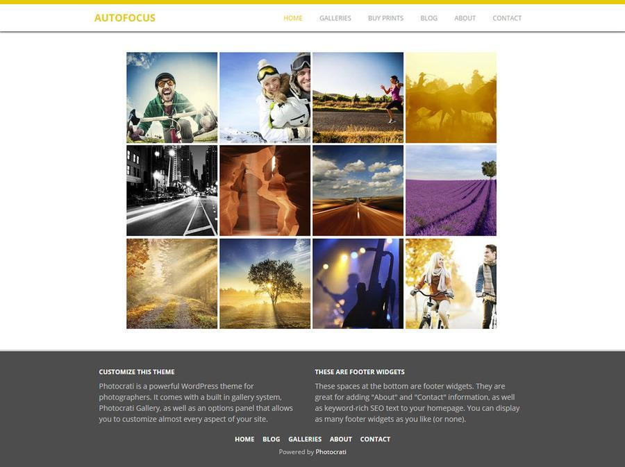 Autofocus Yellow WordPress Theme