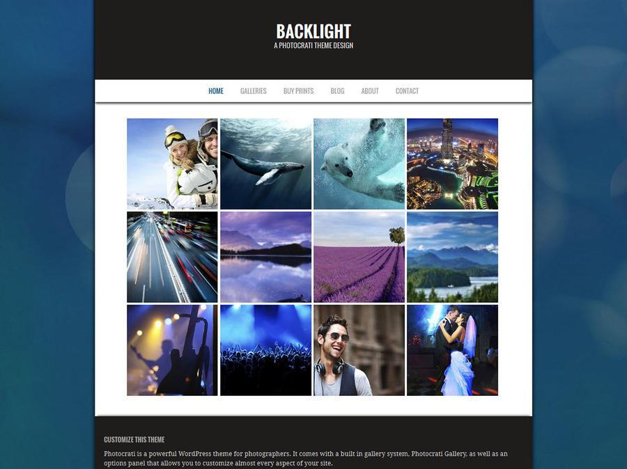 Backlight Blue WordPress Theme