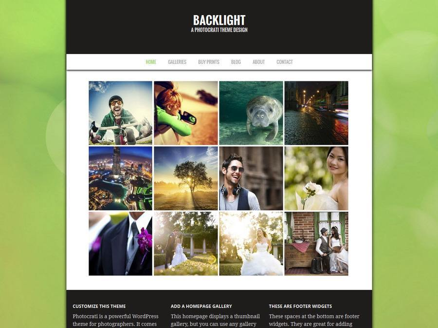Backlight Green WordPress Theme