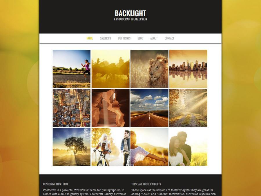 Backlight Yellow WordPress Theme