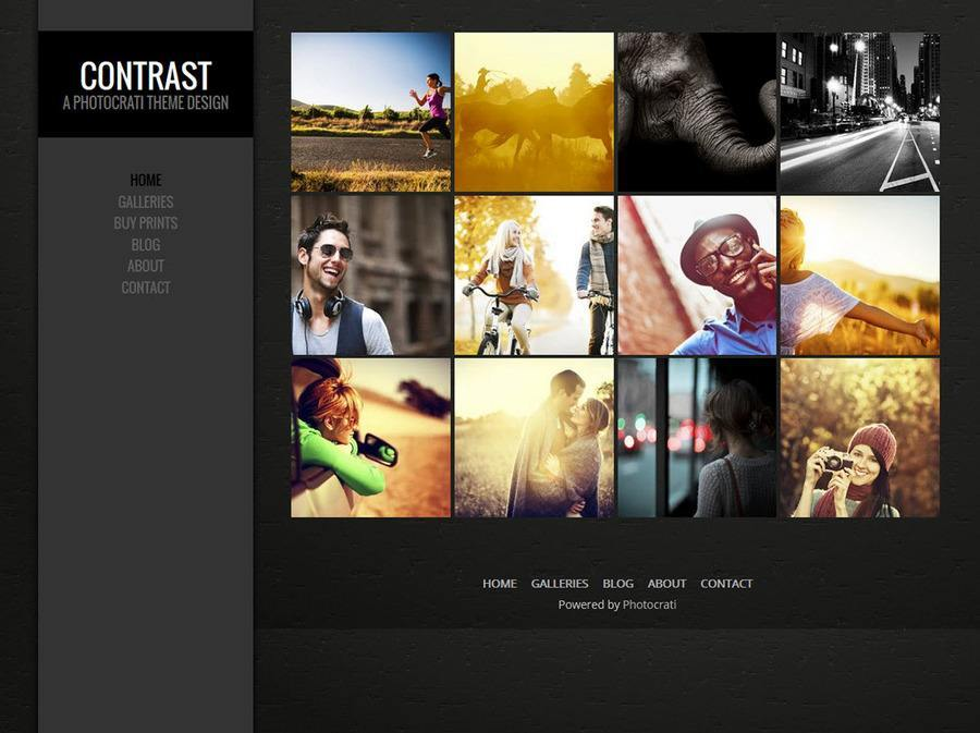Contrast Dark WordPress Theme