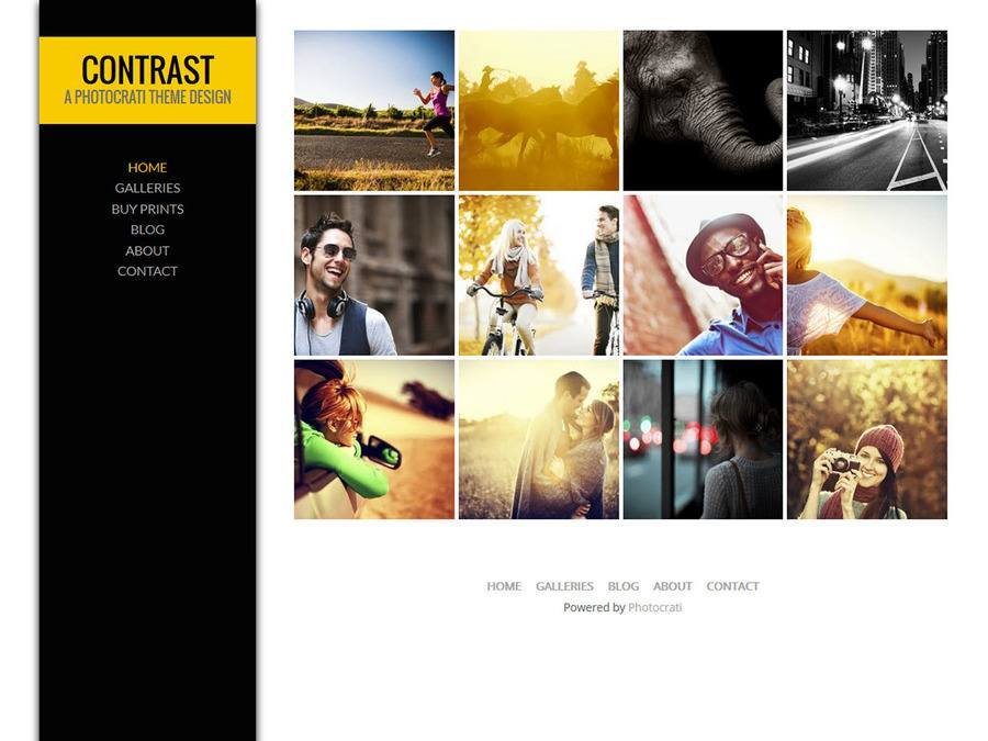 Contrast Yellow WordPress Theme