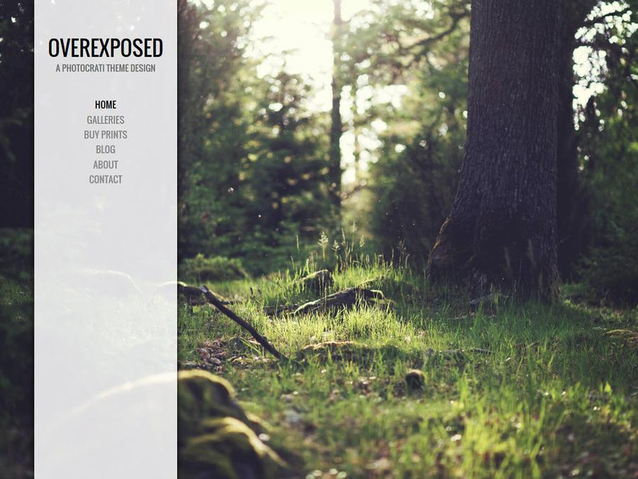 Overexposed White WordPress Theme