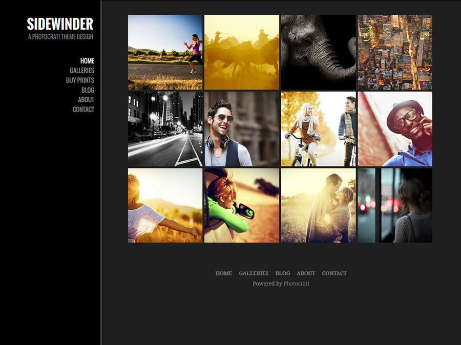 Sidewinder Dark WordPress Theme