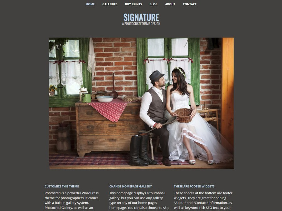 signature wordpress themes for photographers