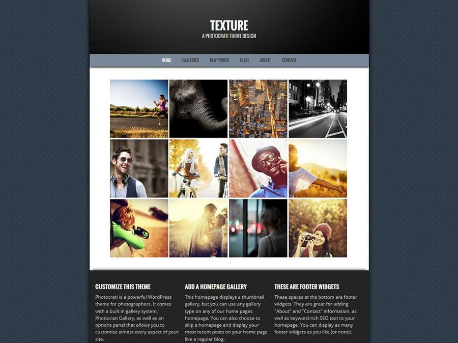 Texture Blue WordPress Theme