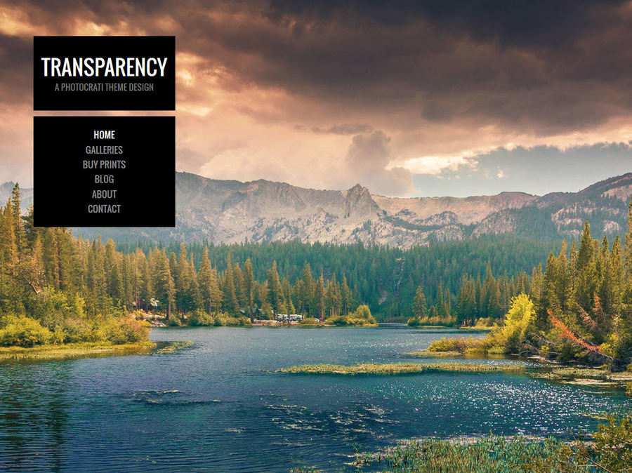 Photocrati Photography WordPress Themes - Transparency
