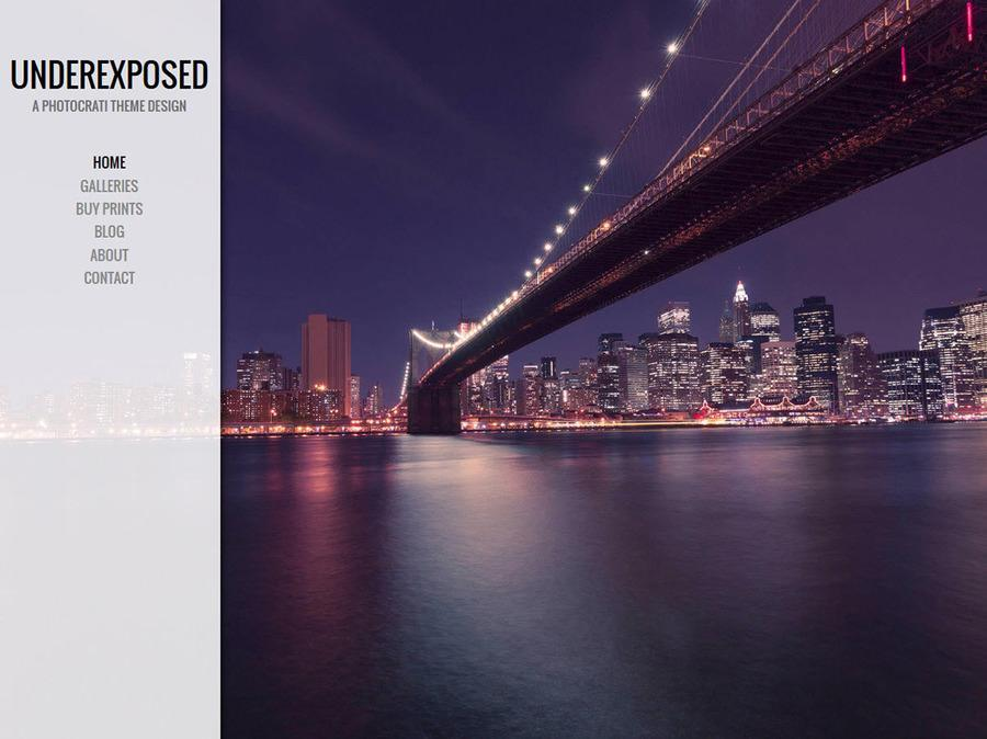 Underexposed White WordPress Theme