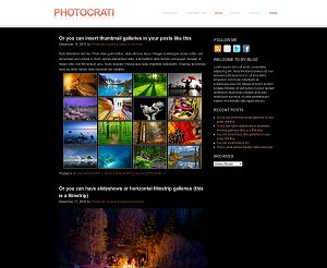wideangle photo wordpress template